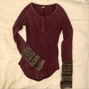 Free People Henley Sweater XS